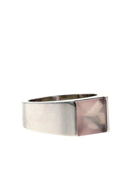 Кольцо с кварцем - белое Cartier
