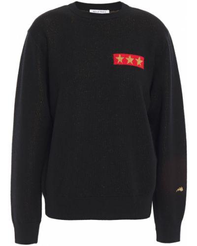 Черный шерстяной свитер с вышивкой Bella Freud