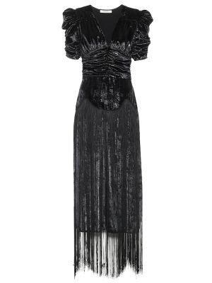 Черное платье миди Rodarte