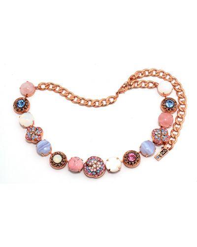 Розовое ожерелье с камнями Amaro