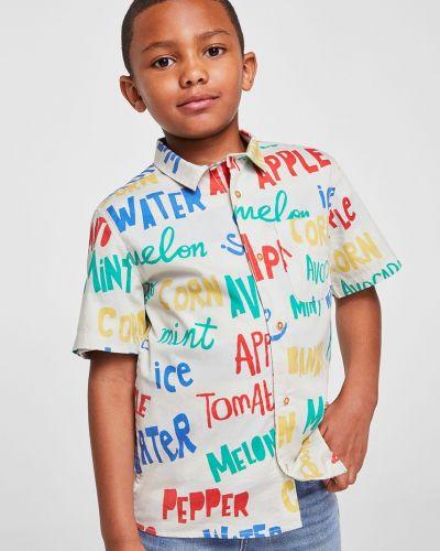 Рубашка хлопковая с карманами Mango Kids