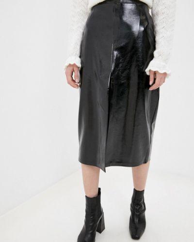 Черная кожаная юбка Y.o.u.