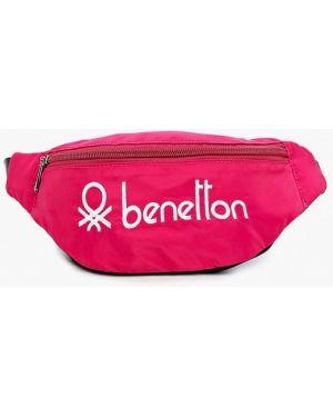 Розовая текстильная поясная сумка United Colors Of Benetton