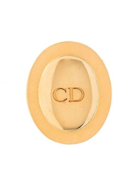 Broszka pozłacany ze złota Christian Dior Pre-owned