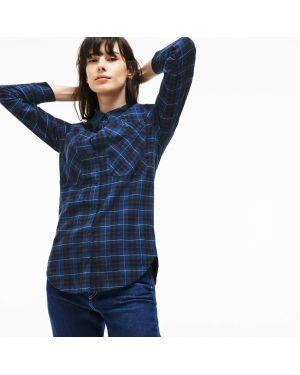 Рубашка в клетку с карманами Lacoste