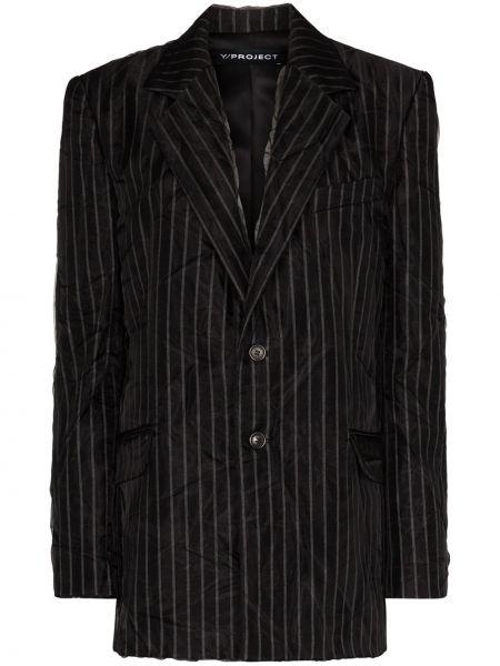 Черный пиджак с карманами на пуговицах Y/project