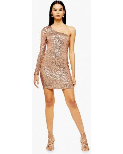 Вечернее платье золотой Topshop