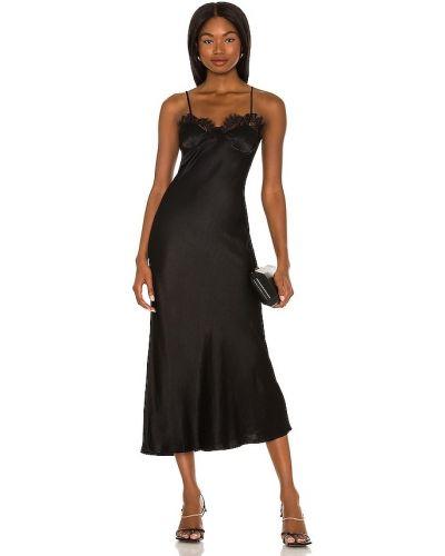 Нейлоновое кружевное платье миди на шнуровке Bardot
