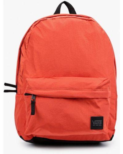 Нейлоновый оранжевый рюкзак Vans