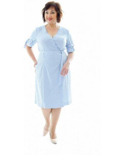 Платье с запахом - синее Petro Soroka