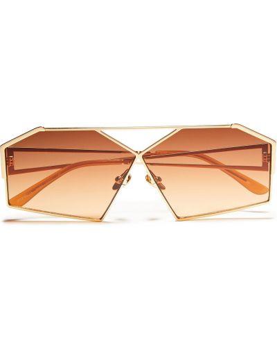 Солнцезащитные очки металлические - золотые Self-portrait