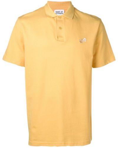 Классическая желтая рубашка с короткими рукавами на пуговицах Band Of Outsiders