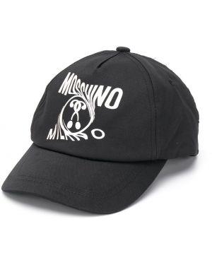 Czapka z logo czarny Moschino Kids