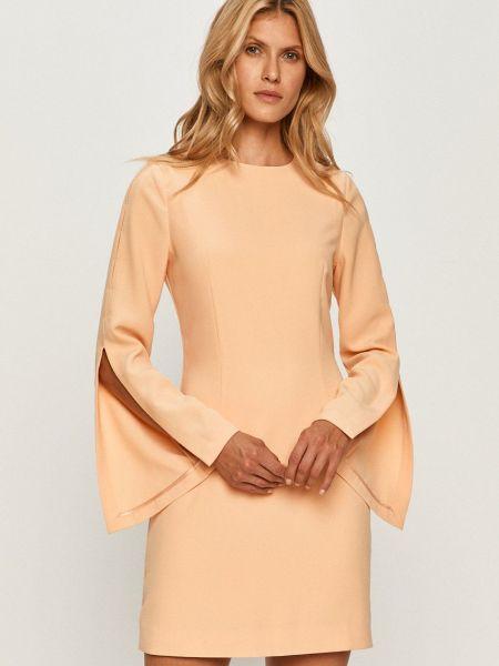 Прямое платье с длинными рукавами с вырезом Marciano Guess