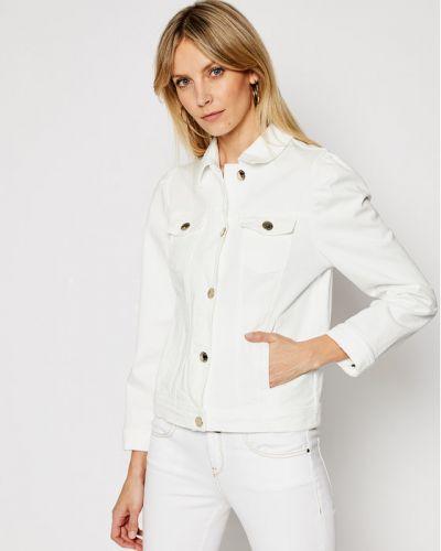 Biała kurtka jeansowa Pinko