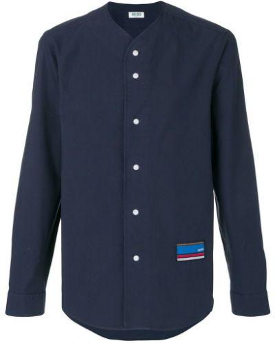 Синяя хлопковая рубашка Kenzo