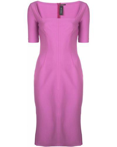 Платье мини с разрезами по бокам - фиолетовое Yigal AzrouËl