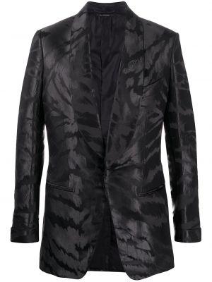 Шелковый черный пиджак на пуговицах с манжетами Tom Ford