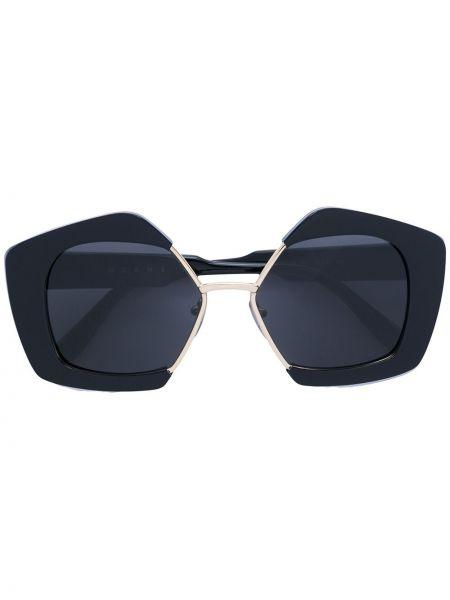 Черные солнцезащитные очки металлические Marni Eyewear