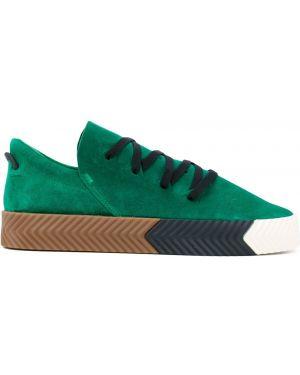 Кожаные кеды - зеленые Adidas Originals By Alexander Wang