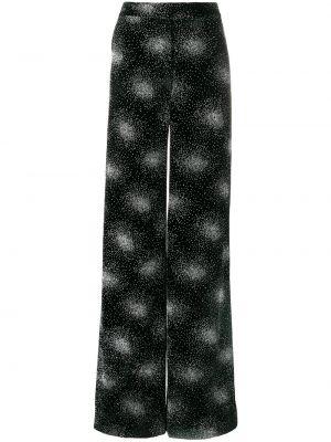Czarne spodnie z wysokim stanem skorzane Sonia Rykiel