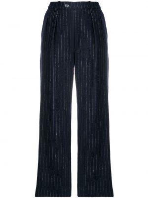 Синие шерстяные брюки Roseanna
