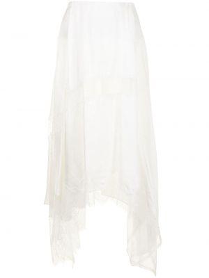 Белая юбка миди с завышенной талией Goen.j