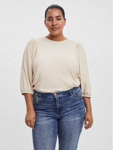 Beżowa bluzka Vero Moda Curve