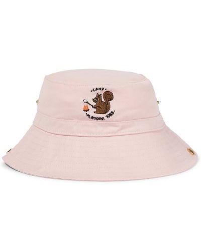 Хлопковая шапка - розовая Mini Rodini