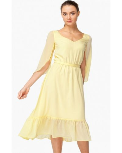 Желтое платье весеннее Nai Lu-na By Anastasia Ivanova