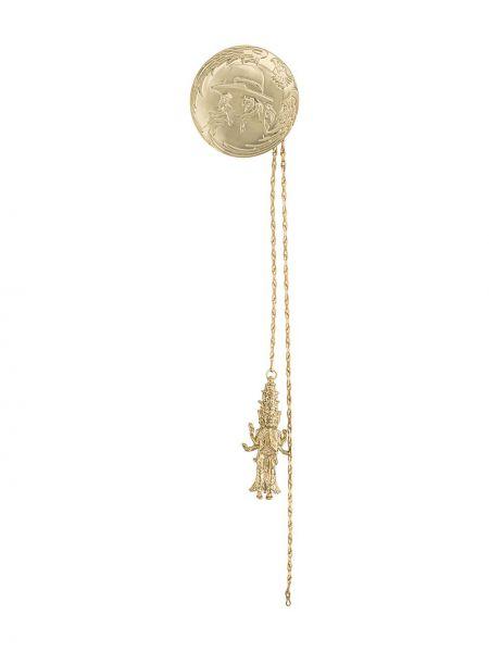 Złota broszka Yohji Yamamoto