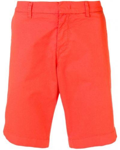 Оранжевые бермуды с карманами Fay