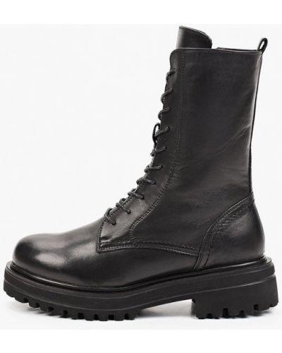 Черные кожаные ботинки Der Spur