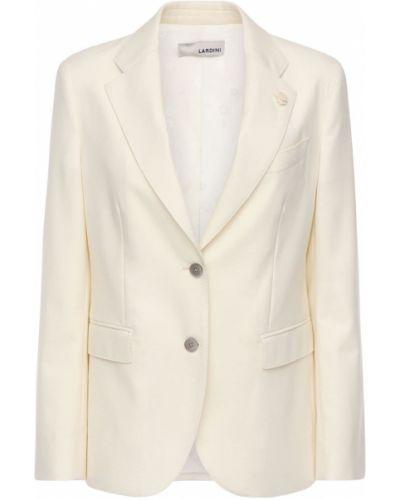 Фланелевый бежевый пиджак с карманами Lardini