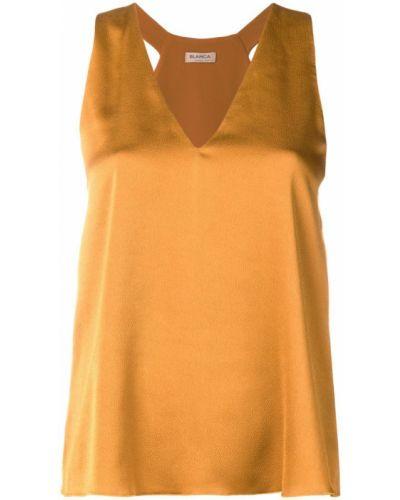 Блузка без рукавов с V-образным вырезом прямая Blanca