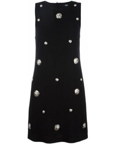 Платье из вискозы черное Versus