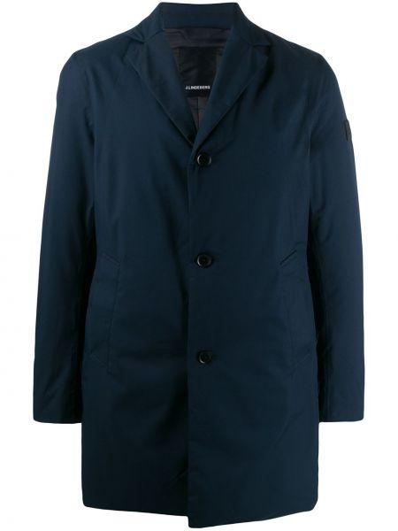 Длинное пальто - синее J.lindeberg