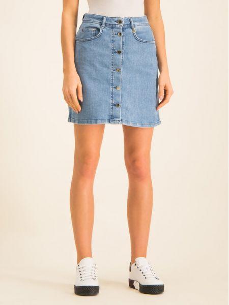 Spódnica jeansowa - granatowa Pennyblack