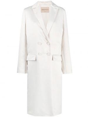Белое длинное пальто Emilio Pucci