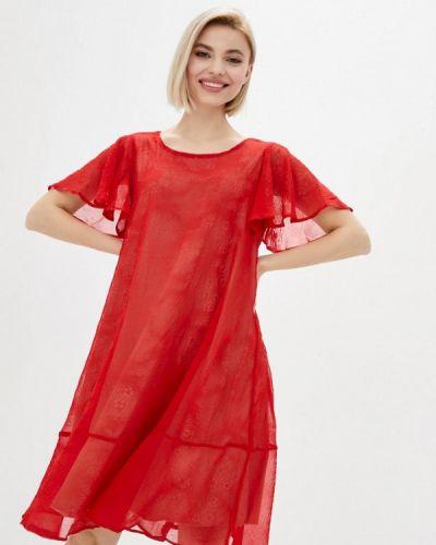 Прямое красное платье А-силуэта Vergans