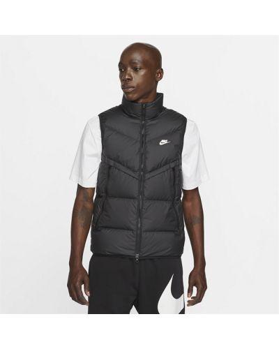 Черная пуховая жилетка Nike