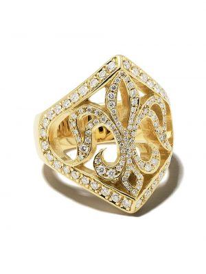 Кольцо золотое с бриллиантом Loree Rodkin