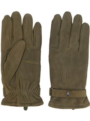 Zielony zamsz rękawiczki Barbour