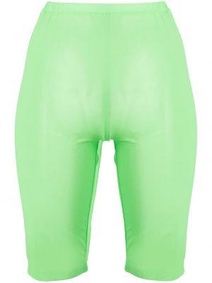 Зеленые с завышенной талией шорты сетчатые David Koma
