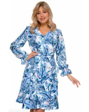 Платье с поясом с запахом платье-сарафан Nikol