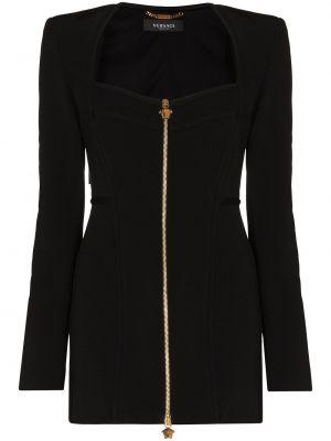 Платье макси длинное - черное Versace