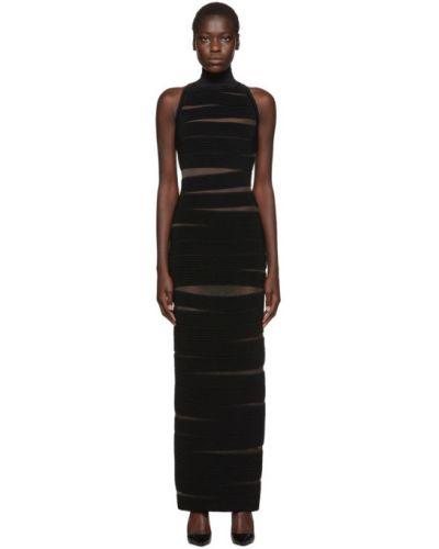 Платье макси сетчатое вязаное Balmain