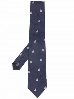 Krawat z jedwabiu - biały Lanvin