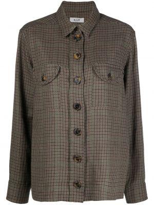 Льняная классическая рубашка с воротником с длинными рукавами Blazé Milano