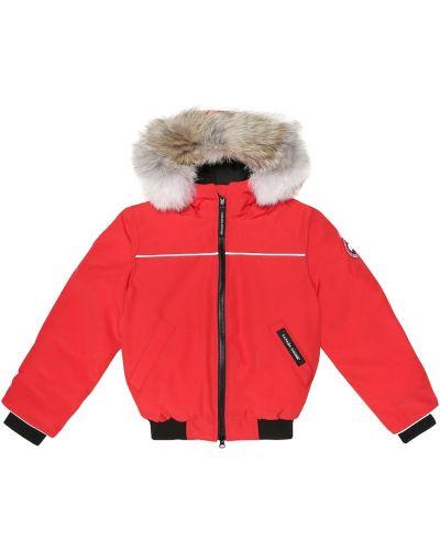 Pomarańczowa kurtka bawełniana Canada Goose Kids